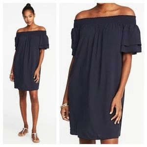 ➕ Old Navy Ruffle Sleeve Off The Shoulder Dress